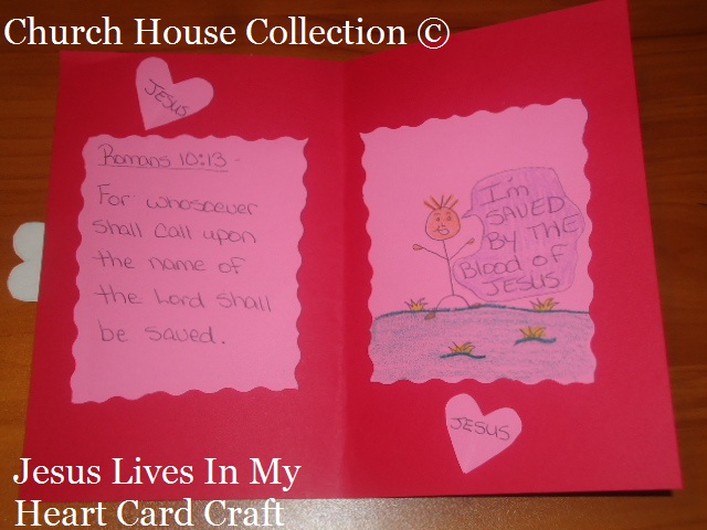 Church House Collection Blog Valentines Day Heart Card Craft – Construction Paper Valentine Cards