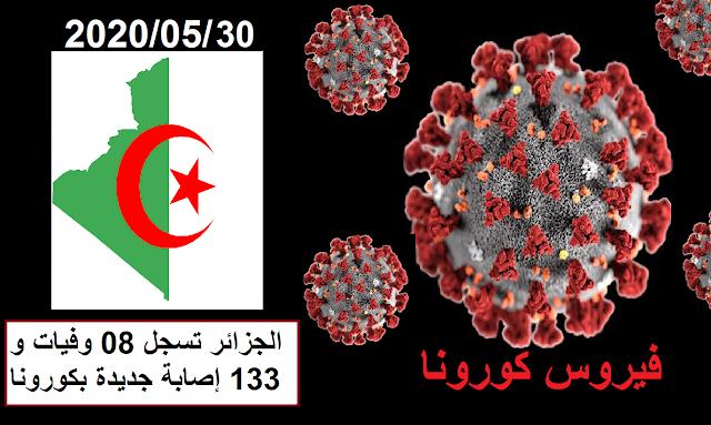 الجزائر تسجل 08 وفيات و133 إصابة جديدة بكورونا