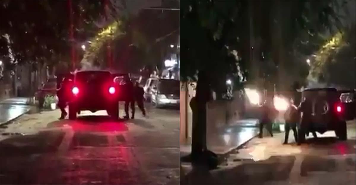 VIDEO muestra a sicarios bajando de una camioneta y rafagueando una vivienda en Tamaulipas
