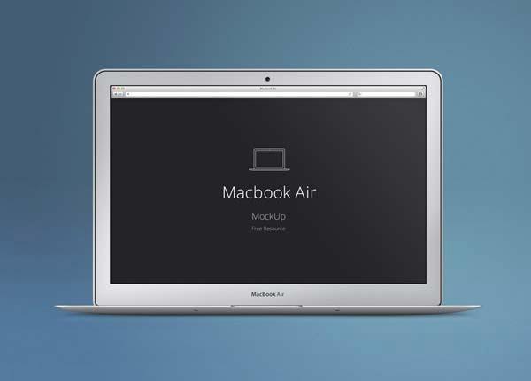 MacBook Air Mock-Up PSD Template
