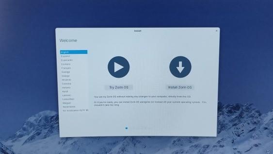 Tombol Install Zorin OS