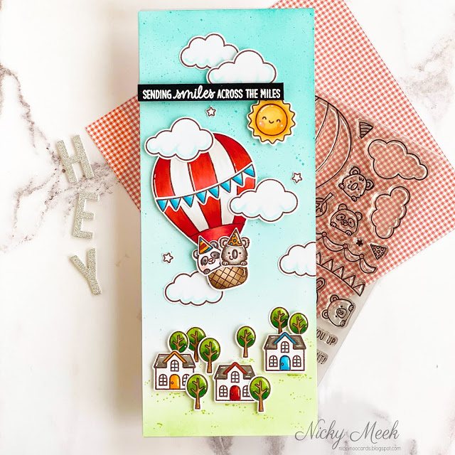 Sunny Studio Stamps: Balloon Rides Country Scenes Everyday Cards by Nicky Meeks