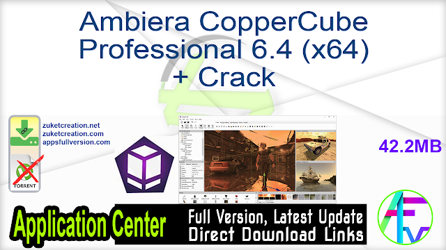 Ambiera CopperCube Professional 6.4 (x64) + Crack