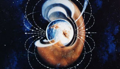 Ilustrasi magnet bumi