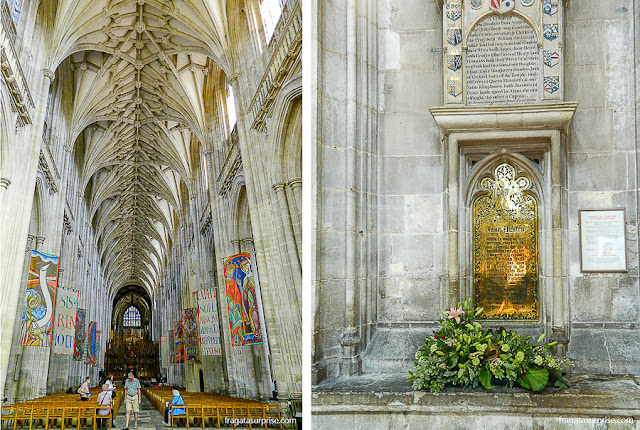 Túmulo de Jane Austen na Catedral de Winchester, Inglaterra