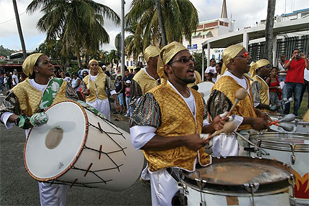 Percussioniste du Carnaval en Martinique