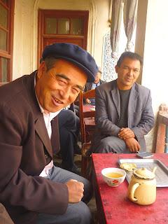 maison de thé au Xinjiang le chameau bleu