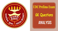 ESIC UDC Prelims Exam 2019 Analysis