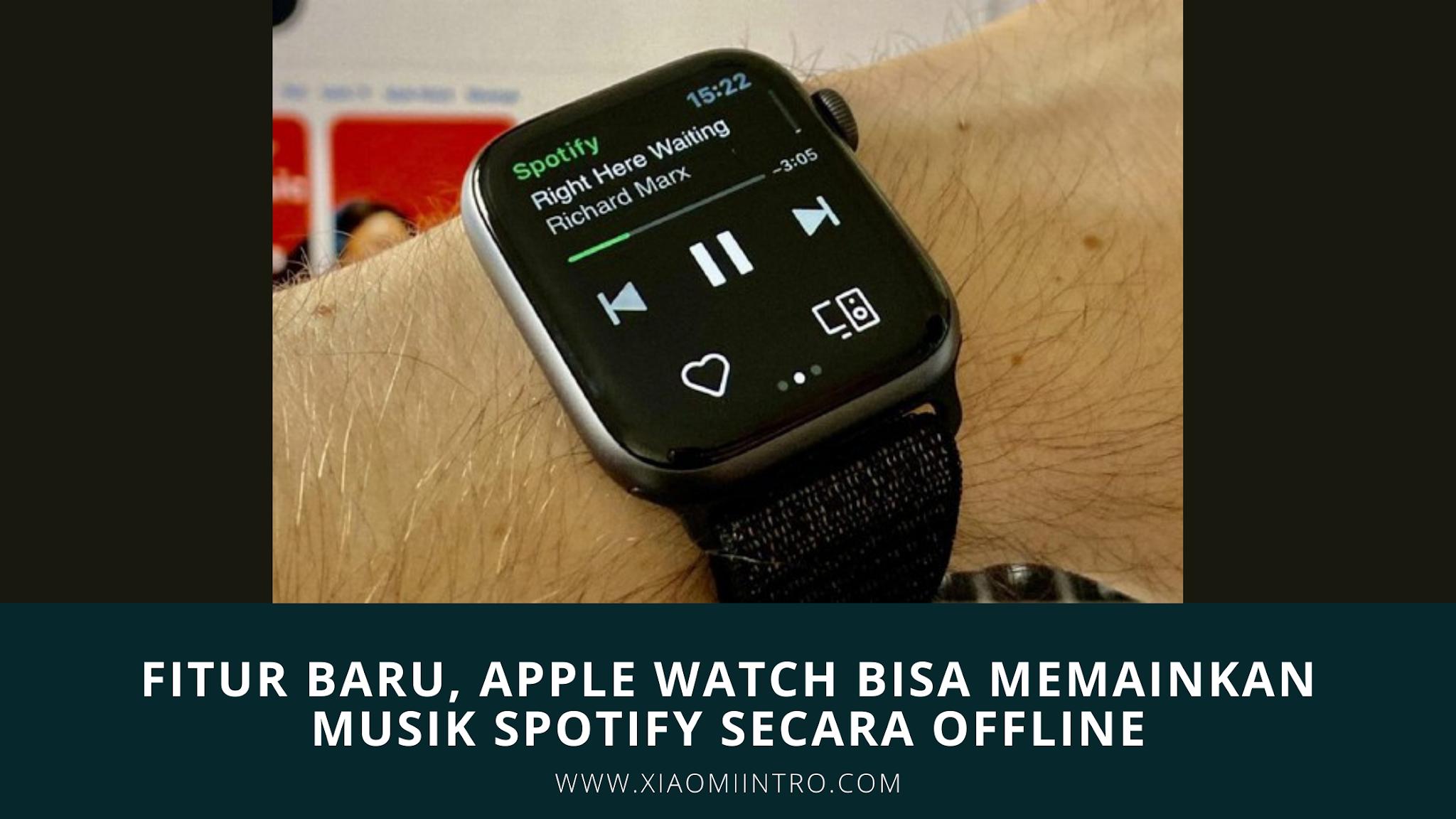 Fitur Baru, Apple Watch Bisa Memainkan Musik Spotify Secara Offline