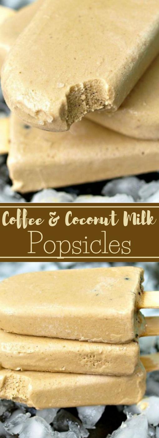 COFFEE AND COCONUT MILK POPSICLES #healthy #recipe #coffee #coconut #milktea