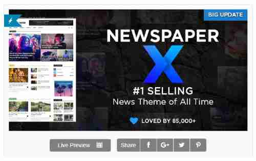 ⁠Newspaper v10 - Wordpress News Theme