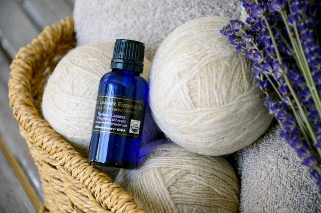 Fragrant Lavender Laundry With Homemade Dryer Balls with Organic Lavender Essential Oil