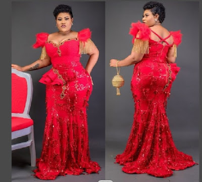 Latest Lace gown styles for aso FBI and owambe