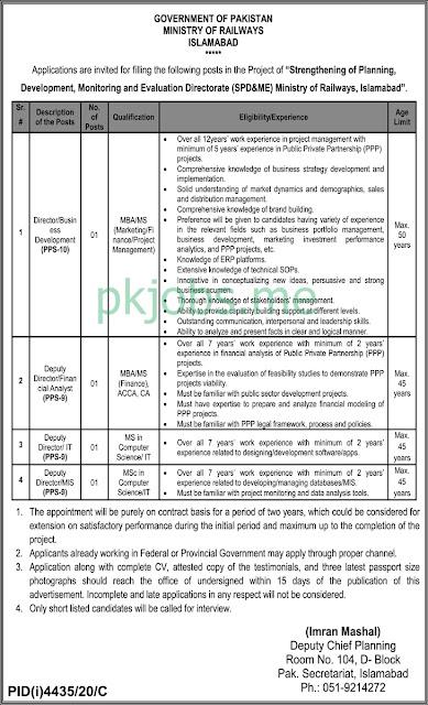 Latest Ministry of Railways Posts 2021 Ad 6