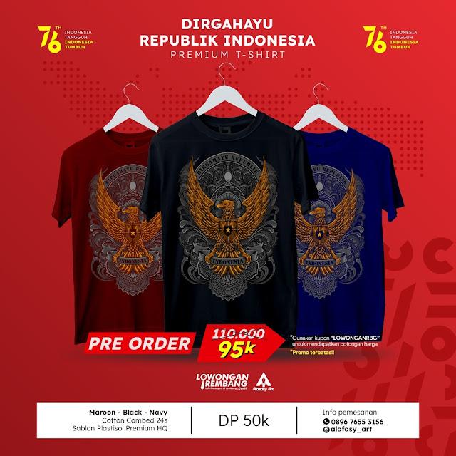 Pre-Order (PO) T-Shirt Spesial HUT RI 76th