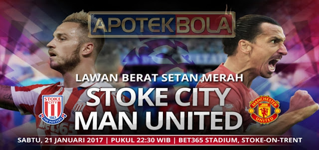 Prediksi Pertandingan Stoke City vs Manchester United 21 Januari 2017