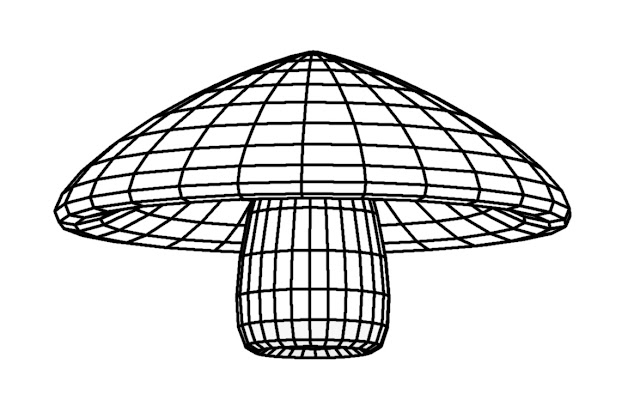 drawing of a mushroom - Free Coloring Book - gvan42 - Gregory Vanderlaan