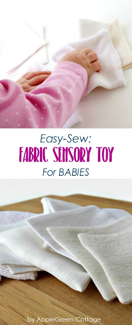 How to make easy fabric sensory toys for babies and toddlers. This soft and light DIY baby toy will help your baby build tactile awareness, along with a few other benefits for the child. Learn how to make it, it's an ideal sewing project for beginners!