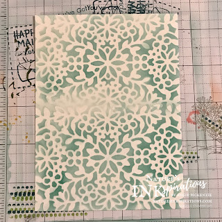 Custom background created with a die cut, blending brush and ink | Nature's INKspirations by Angie McKenzie | Inspired by Bouquet of Hope February 2021 Paper Pumpkin Kit