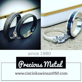 cincin hitam black rhodium