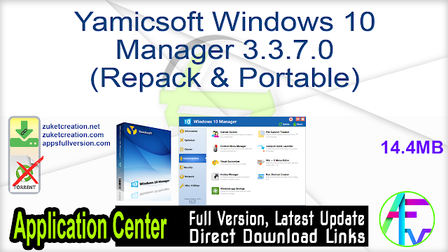 Yamicsoft Windows 10 Manager 3.3.7.0 (Repack & Portable)