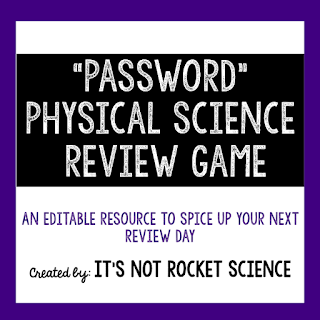 A perfect midterm or end of year final exam review resource.  The game covers 205 physical science vocabulary review terms!  By: It's Not Rocket Science