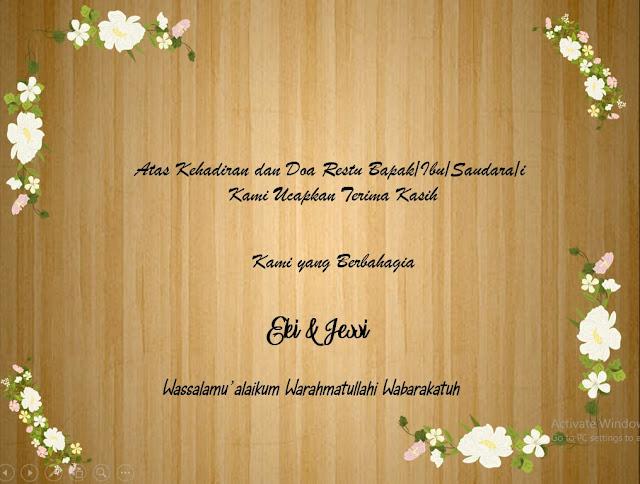Download Template PPT Undangan Pernikahan Islami 2020