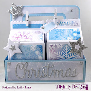 Papers:  Christmas 2019 Custom Dies:  Milk Carton Holder, Milk Carton with Layers, Sparkling Stars, Treat Tags, Christmas Greetings