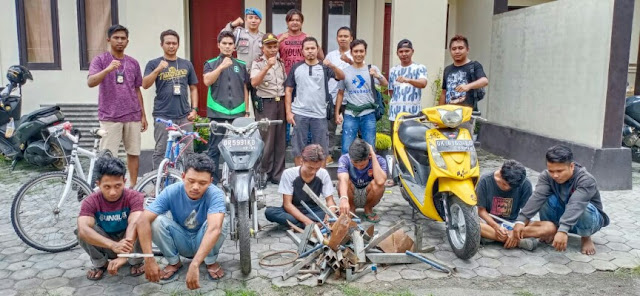 Wow, Dalam Sehari Polres Lombok Timur Borong 8 Pencuri