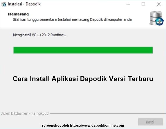 Cara install aplikasi dapodik versi terbaru