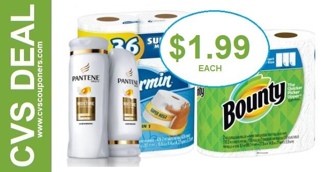 Charmin or Bounty CVS Deal $1.99 10-13-10-19