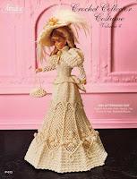 Roupa de Época em Crochê Para bonecas Barbie