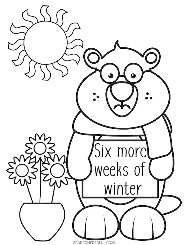Free Printable Groundhog Day Coloring And Word Search Grade Onederful