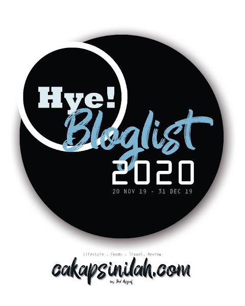 Blog Segmen: Hye! Bloglist 2020