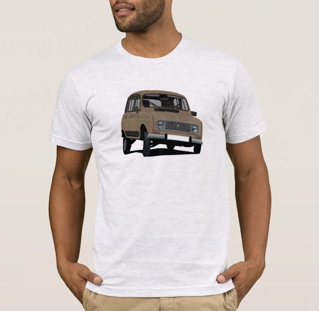Brown retro Renault 4 t-shirt