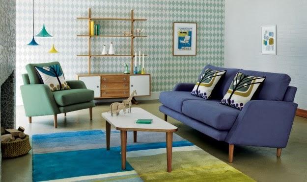 Salas decoradas estilo vintage salas con estilo for Sala de estar retro vintage