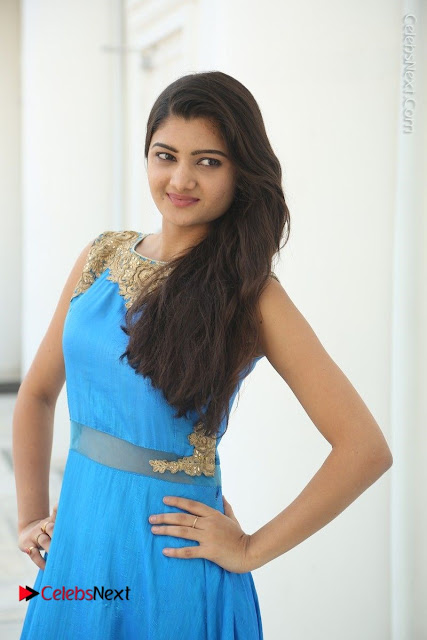 Telugu Actress Akshita (Pallavi Naidu) Latest Stills in Blue Long Dress at Inkenti Nuvve Cheppu Movie Promotions  0004.jpg