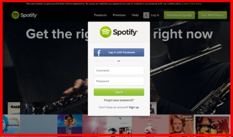 log into spotify without facebook