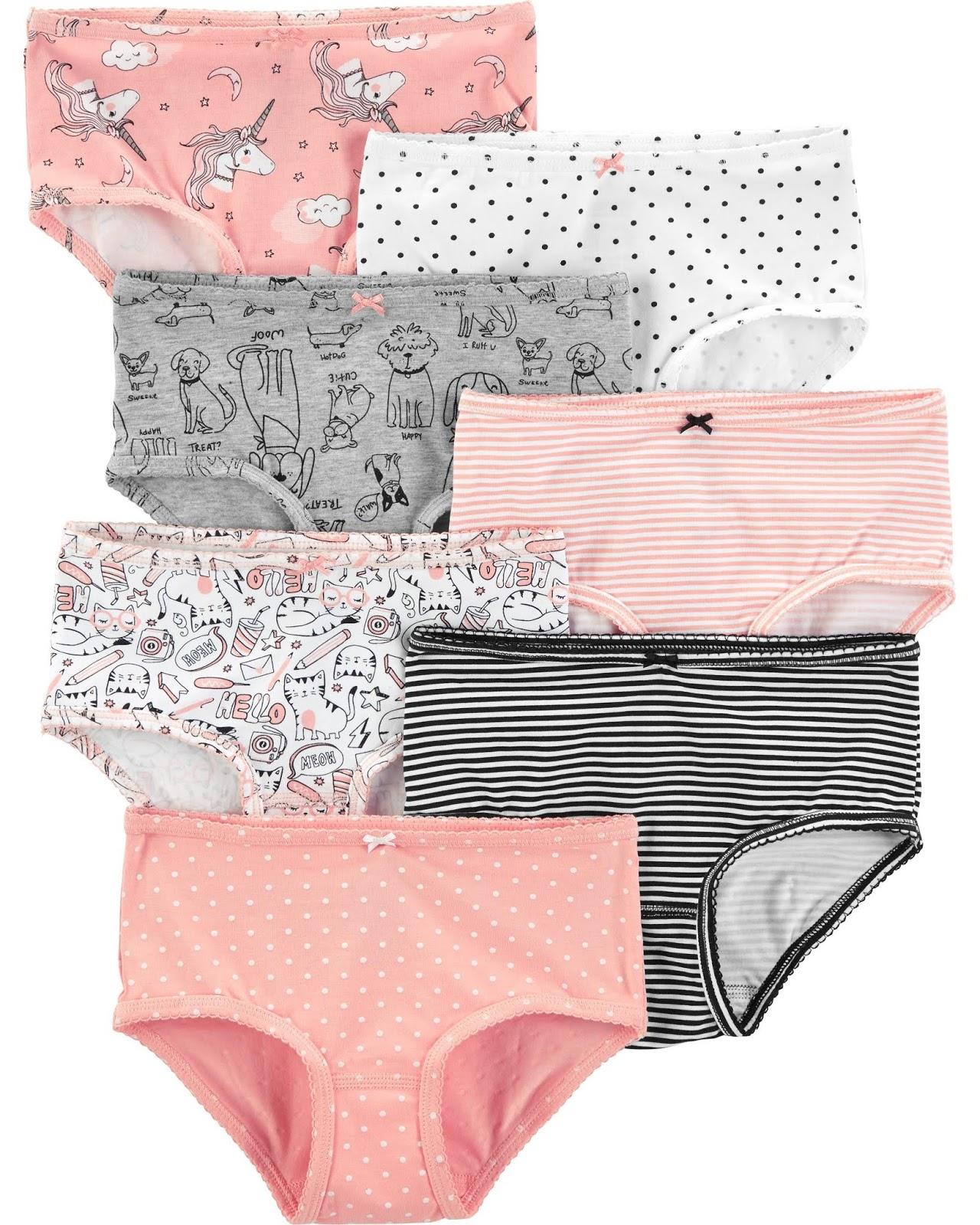 Carters 7 Pack Girl Underwear