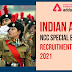 Indian Army NCC Special Entry Recruitment 2021:  Last Day to Apply Online