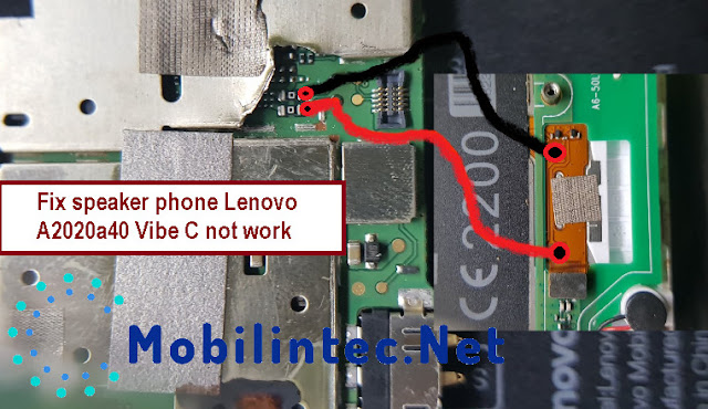 Fix damage speaker phone Lenovo A2020a40 Vibe C