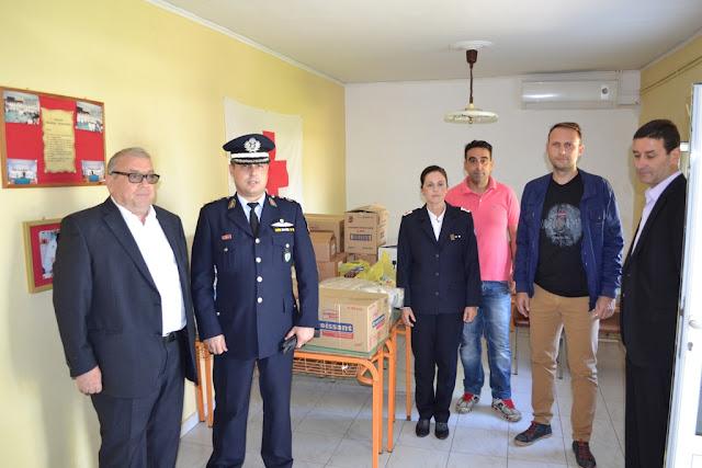 Η Αστυνομική Διεύθυνση Θεσπρωτίας παρέδωσε τρόφιμα και ρουχισμό στον Ερυθρό Σταυρό Ηγουμενίτσας