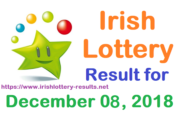 Irish Lottery Result for Saturday, 08 December 2018