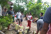Cegah Virus Corona Dan DBD,Pemuda Dusun Bongak Melakukan Penyemprotan Lingkungan