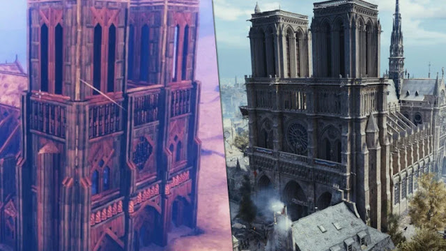 A gamer builds a replica of the Notre Dame church in Valheim