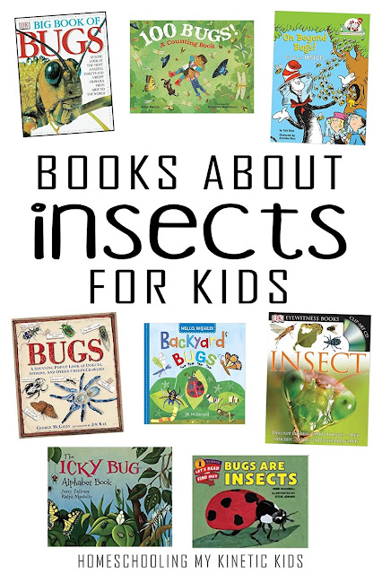 Learn more about the world of insects and bugs with these fun books for kids!
