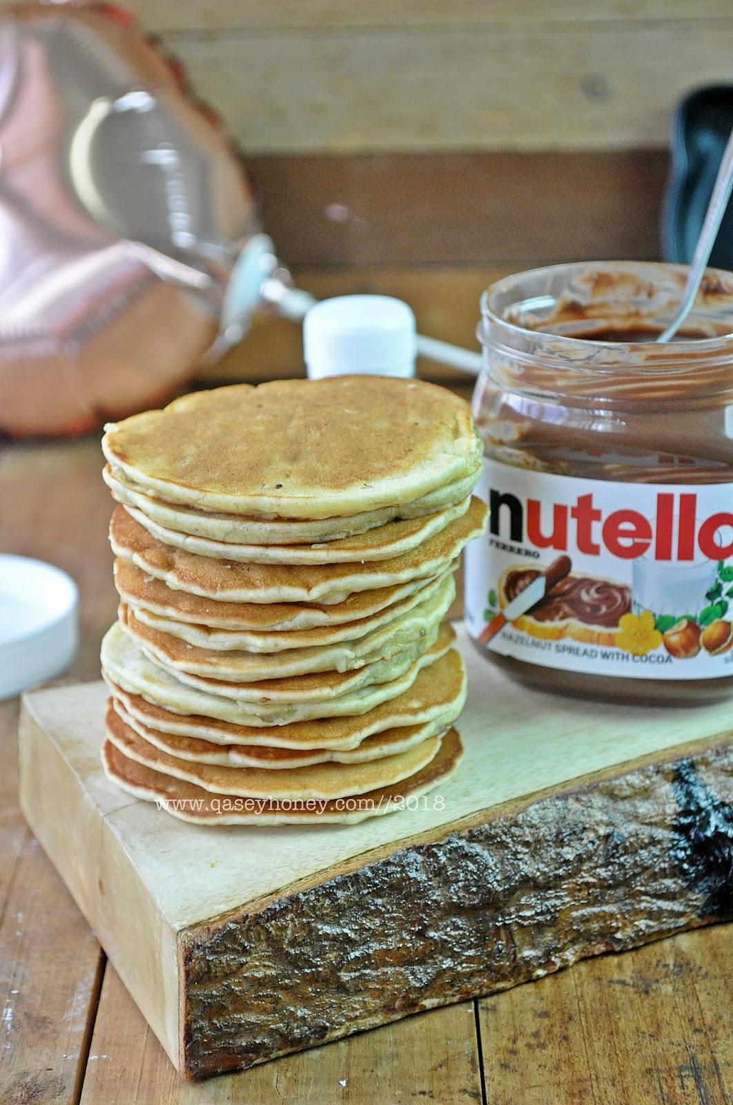 Banana Pancake Pankek Pisang Yang Sedap Qasey Honey