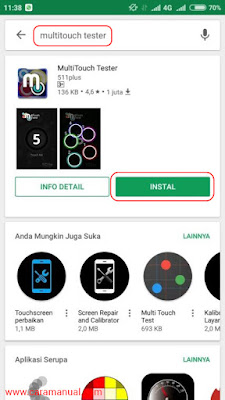 MultiTouch Tester di Play Store