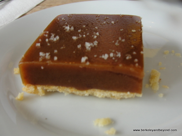 salted-caramel square at Huckleberry Cafe in Santa Monica, California