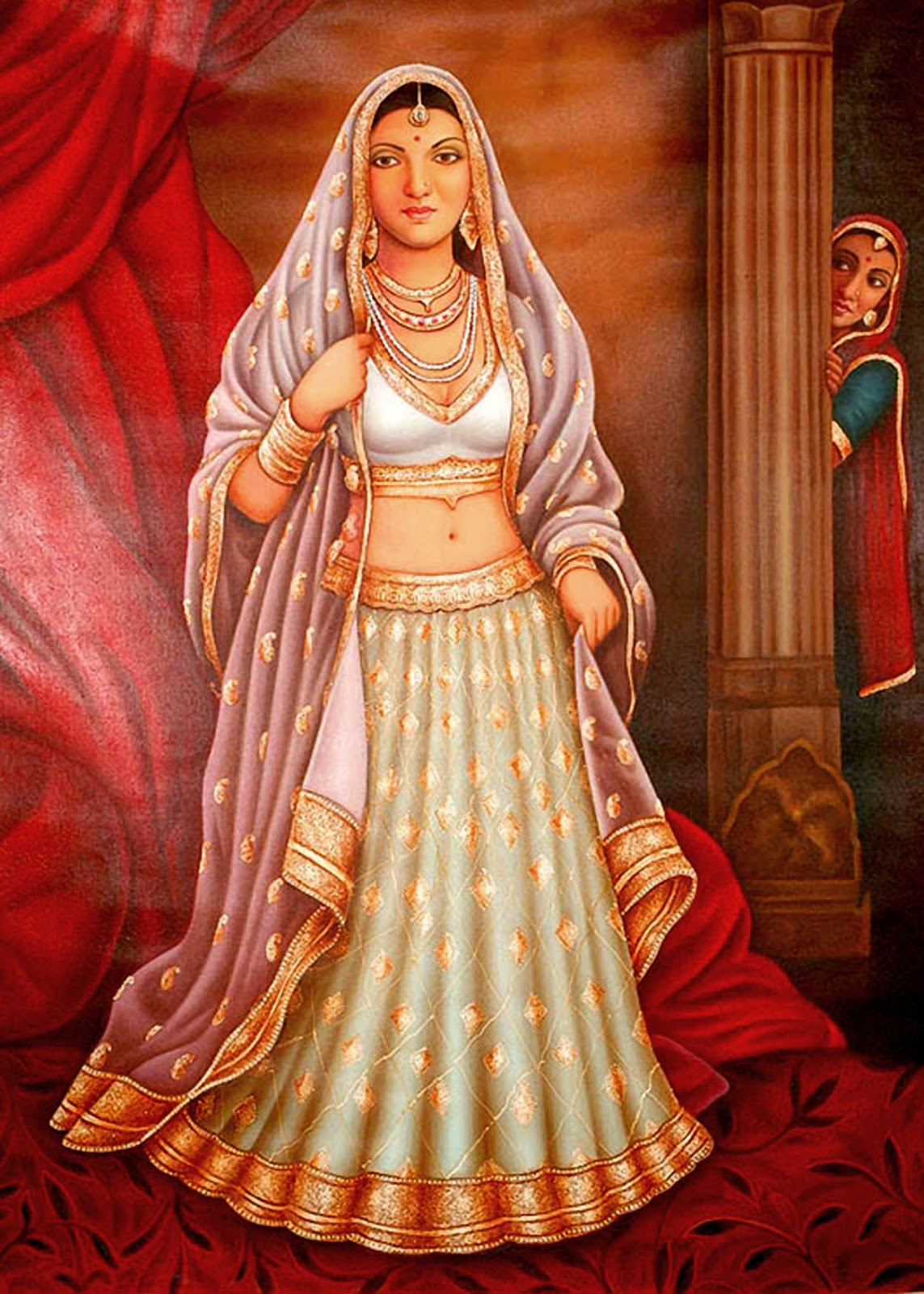 Cute Stylish Child Girl Wallpaper Rajasthani Woman S Painting From India Best Indian Art